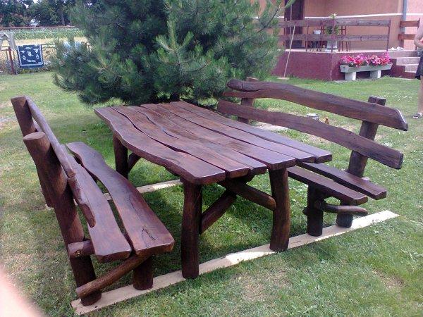 meble ogrodowe , stół ogrodowy , stół dębowy